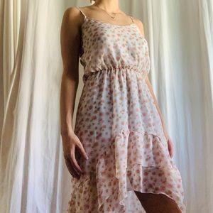 Beautiful summer high low floral dress!!